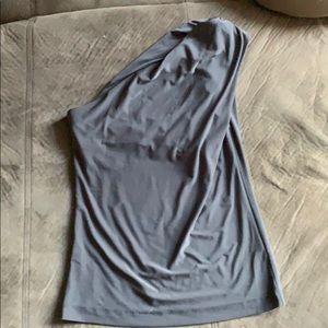 Women's one shoulder tank top